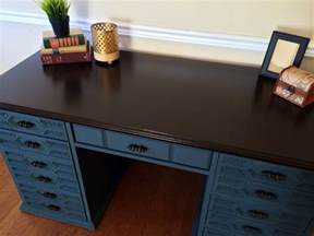 Painting Wood Desk by Vintage Bassett Desk Midnight Blue Shabby Roots