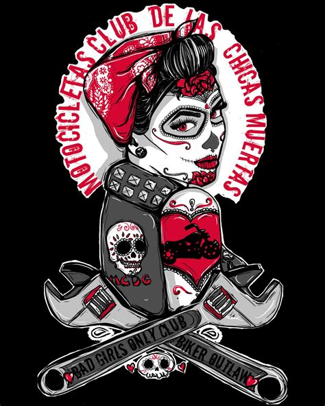 gothic pin up girl tattoo designs rockabilly pin up biker flash day of the dead