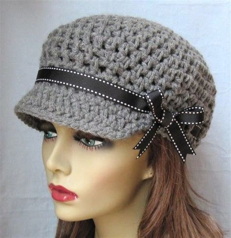 images of crochet hats for crochet newsboy gray