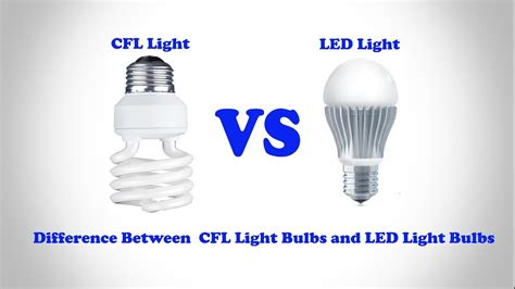 Difference Between Led And Cfl Light Bulbs Led Light Bulb Vs Cfl Iron