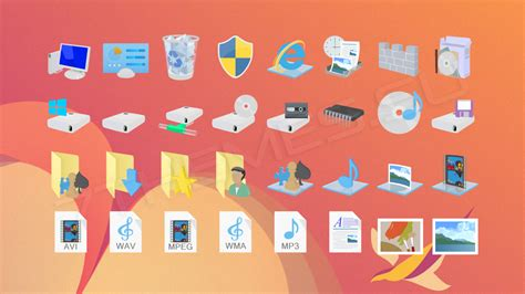themes for windows 8 1 icons windows 8 1 flat colors иконки для iconpackager