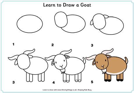 how to draw new year animals tekenen geit diy tekenen fainting goat