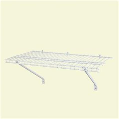 closetmaid wire shelving closetmaid 3 ft x 12 in ventilated wire shelf kit 1031 the home depot