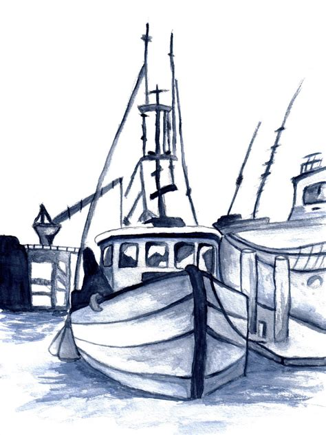 old boat drawing old fishing boat by hindorf on deviantart