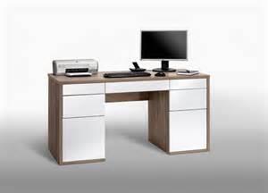 bureau informatique design ch 234 ne laqu 233 blanc aleria