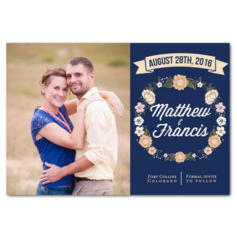 Date At Wedding Shop wedding bouquet save the date magnet funflip the print cafe