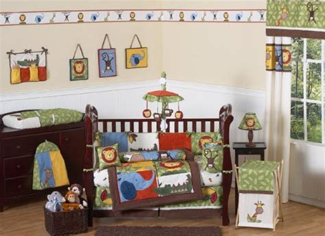 Animal Themed Crib Bedding Jungle Safari Monkey Giraffe Animal Theme Baby Boy Bedding 9pc Crib Set By Sweet Jojo