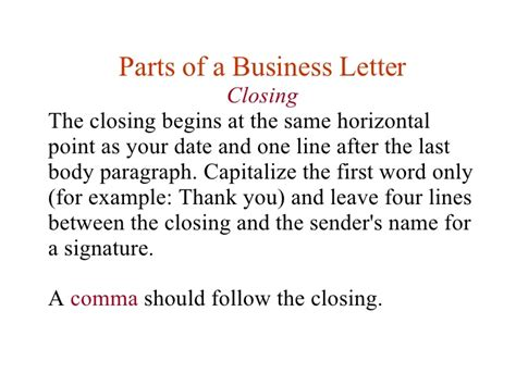 Closing Remarks For Justification Letter Lesson 11 Writing Business Letters