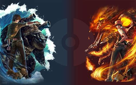 wallpaper red vs blue celebrity wallpapers and pictures pokemon pictures epic