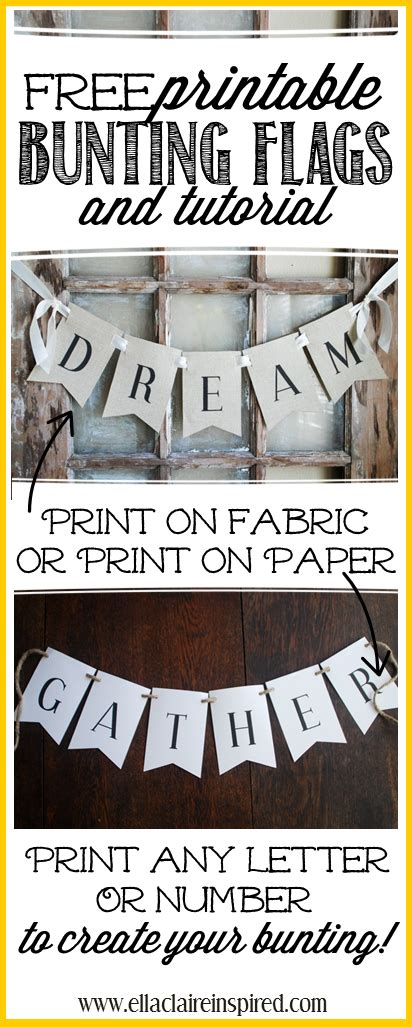 Free Printable Bunting Flags And Tutorial | 301 moved permanently