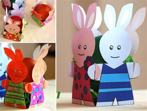 Coloured Paper Craft Ideas - 13 easter craft ideas and decorations free templates