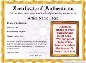 Certificate Of Authenticity Template by Authenticity Image Template