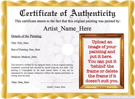 authenticity image template
