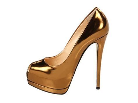 copper shoes high heels shoes metallic heels high heels copper gold gold peep