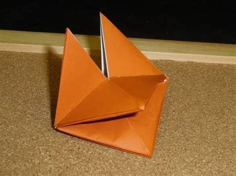 How To Make A Paper Fox Puppet - daily origami 067 fox puppet