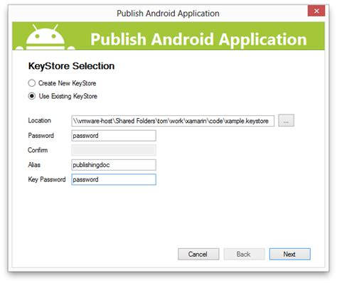 publish android app part 2 signing the android application package xamarin