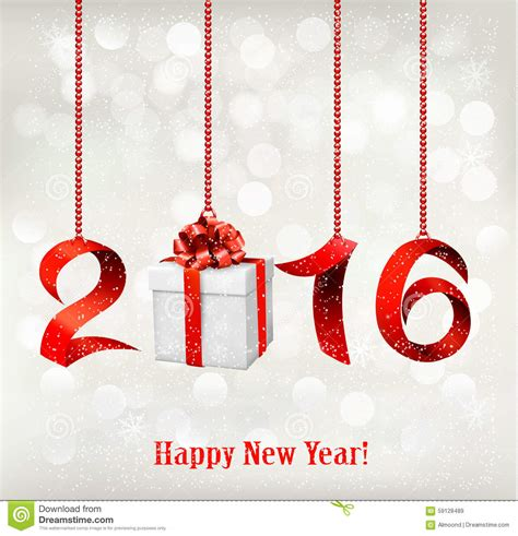 new year free gift 2016 new years background with gift stock vector image