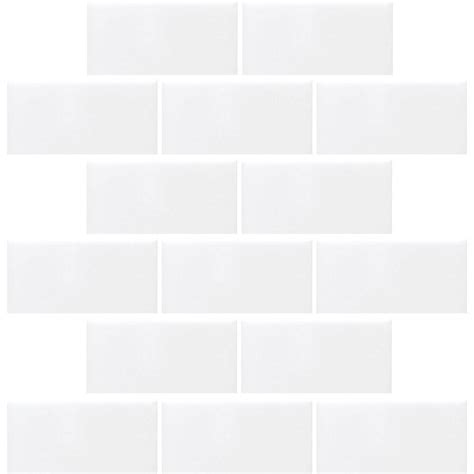 bright white daltile finesse bright white 12 in x 12 in x 6 35 mm