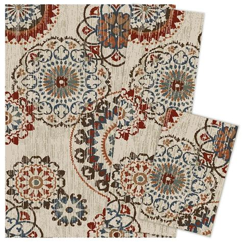 weavers of america area rugs shop weavers of america darby 3 set indoor area rugs common 5 x 7 actual 5 ft