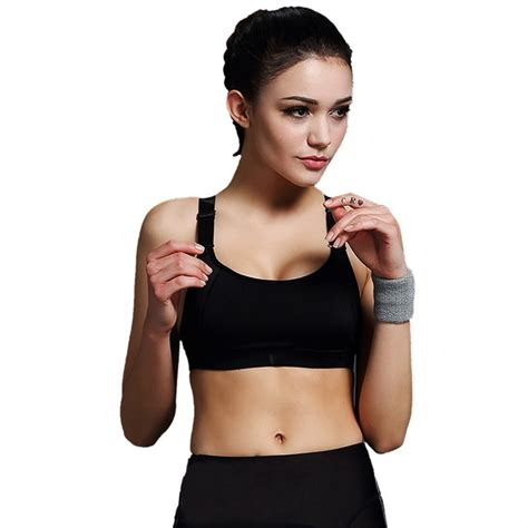 push up sport bra wanita breathable size l black jakartanotebook
