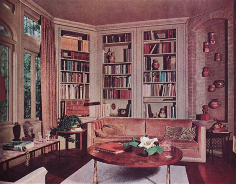 1963 home decor 1963 contemporary library mid century style decorating