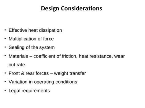 design effect coefficient of variation braking system