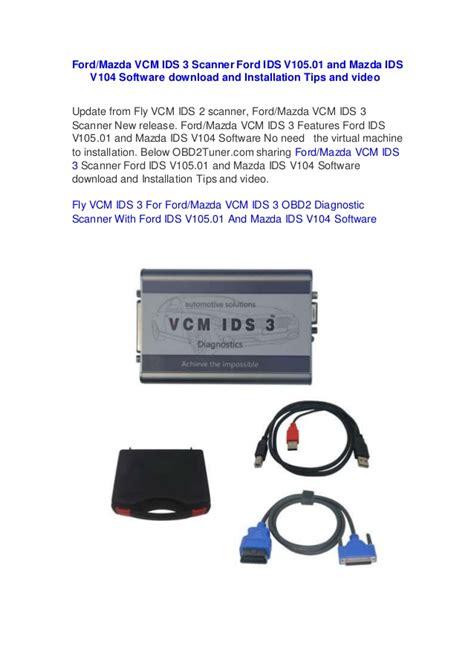 mazda ids ford mazda vcm ids 3 scanner ford ids v105 01 and mazda