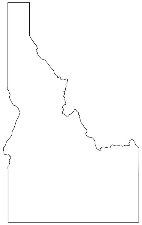 Idaho Search Idaho Map Silhouette Free Vector Silhouettes