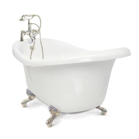 3 foot bathtub american bath factory chelsea 60 in acrylic slipper