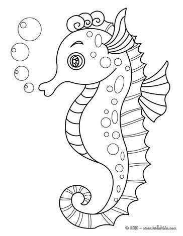 coloring pages of seahorses seahorse coloring pages hellokids