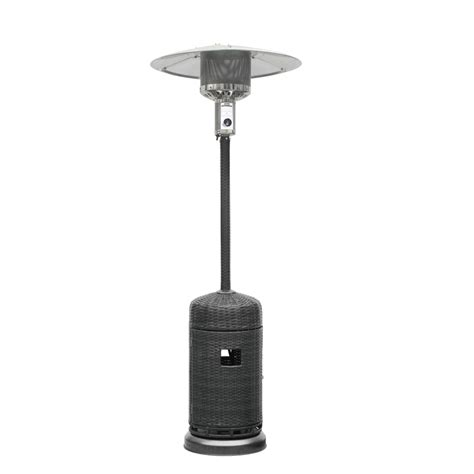 rattan patio heater jumbuck rattan gas patio heater outdoor bunnings warehouse