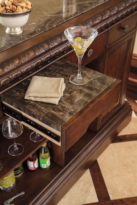 marble top bar north shore marble top bar from ashley d553 65 coleman