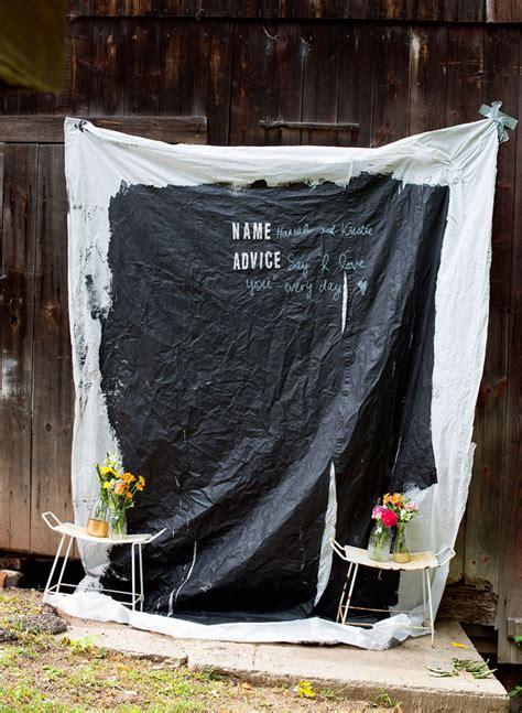 diy chalkboard wedding backdrop diy chalkboard cloth backdrop guestbook the homesteady