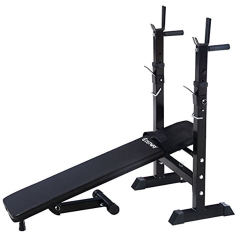 outdoor weight bench goplus adjustable folding weight lifting flat incline