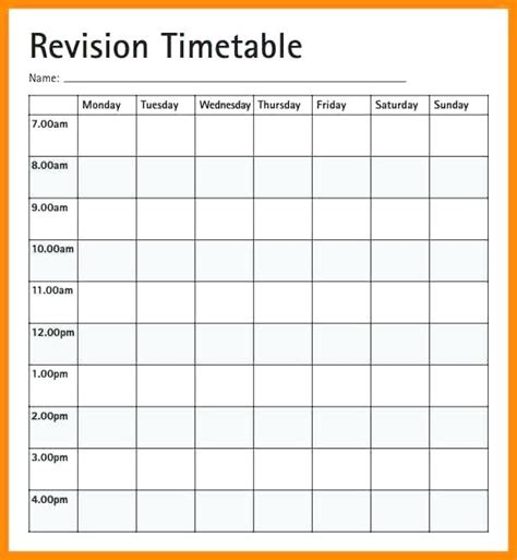 monthly timetable template study schedule template weekly schedule template free word
