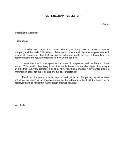 Best Resignation Letter With Regret resignation letter format best ten resignation