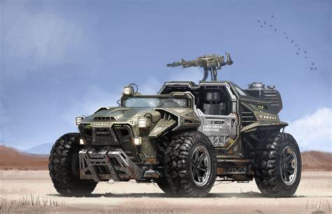 futuristic military jeep matt tkocz digital sci fi artist concept designer and
