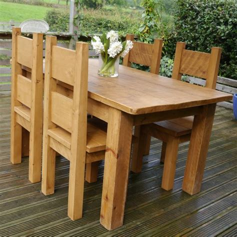 rugged dining table chunky rustic plank dining table dining chairs package