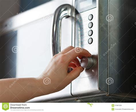 turn on microwave oven royalty free stock photos image