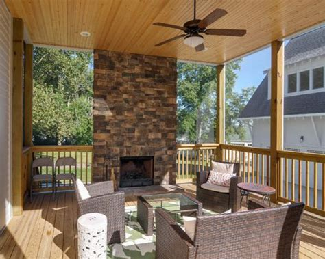 fireplace on screened porch screened porch fireplace houzz