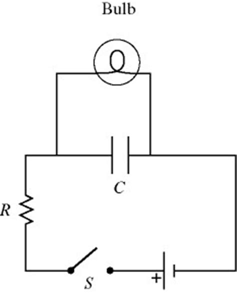 charge capacitor with light bulb a light bulb is connected in the circuit shown in chegg