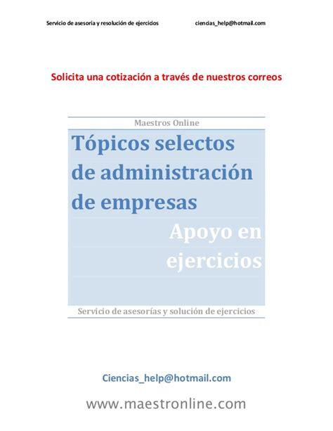 conceptos de administracion estrategica by manuel ricardo topicos selectos de administracion de empresas tn09003