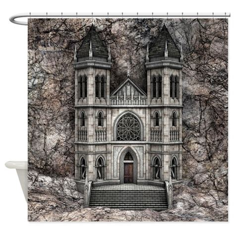 castle curtain castle shower curtain by yourfantasyworld