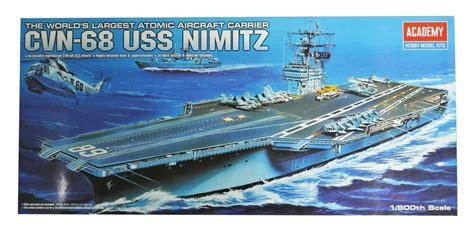 Am 14213 1439 1 800 Uss Nimitz academy plastic model kit atomic aircraft carrier cvn 68