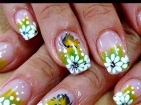 imagenes de uñas decoradas girasoles u 241 as dise 241 os de flores u 241 as decoradas con flores