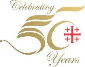 50th anniversary logo st margaret s episcopal church