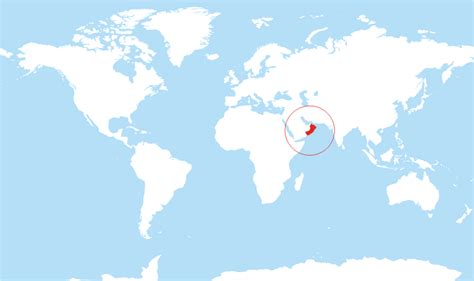 oman location in world map where is oman located on the world map