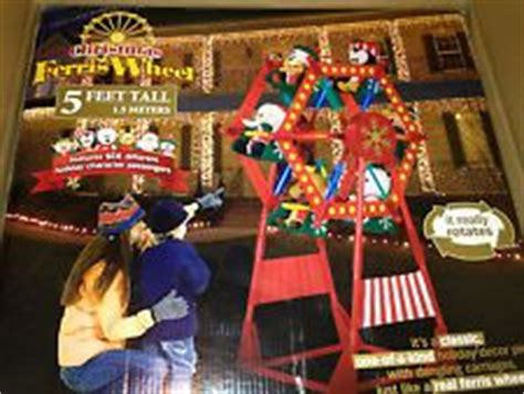 rotating christmas ferris wheel w characters by gemmy nib gemmy ferris wheel airblown and and easter and