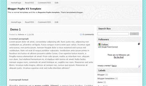 my blogger templates free xml blogger template popho