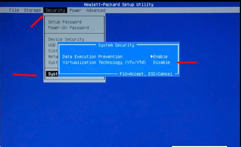 reset bios hp desktop solved how to enable intel virtualization technology vt